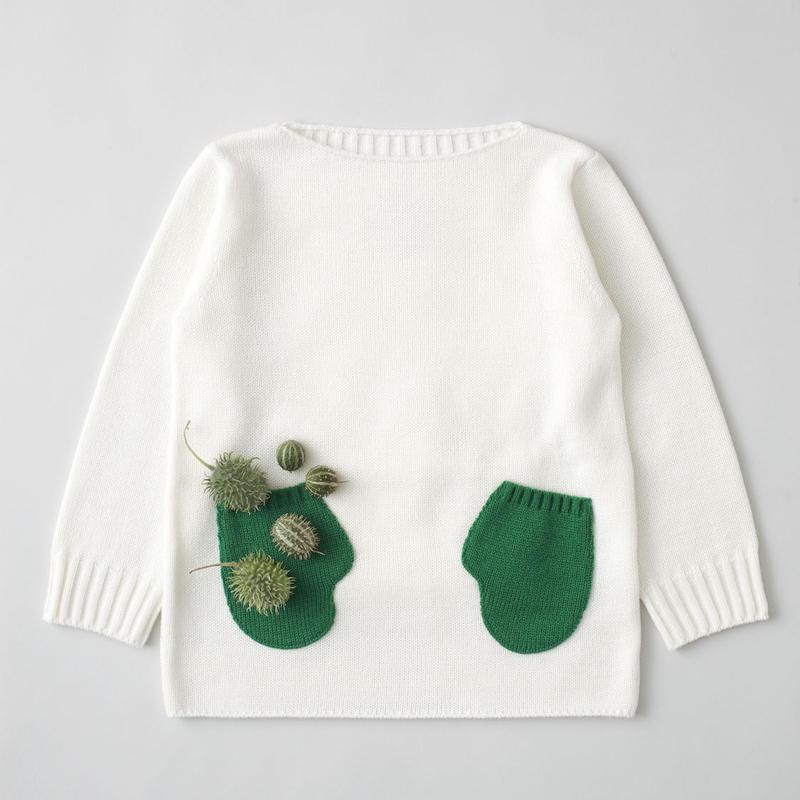 """friendly knit"" mitten sweater green"