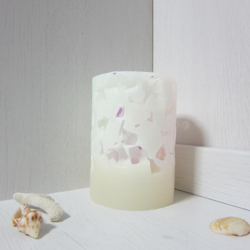 円柱キャンドル  アイス1