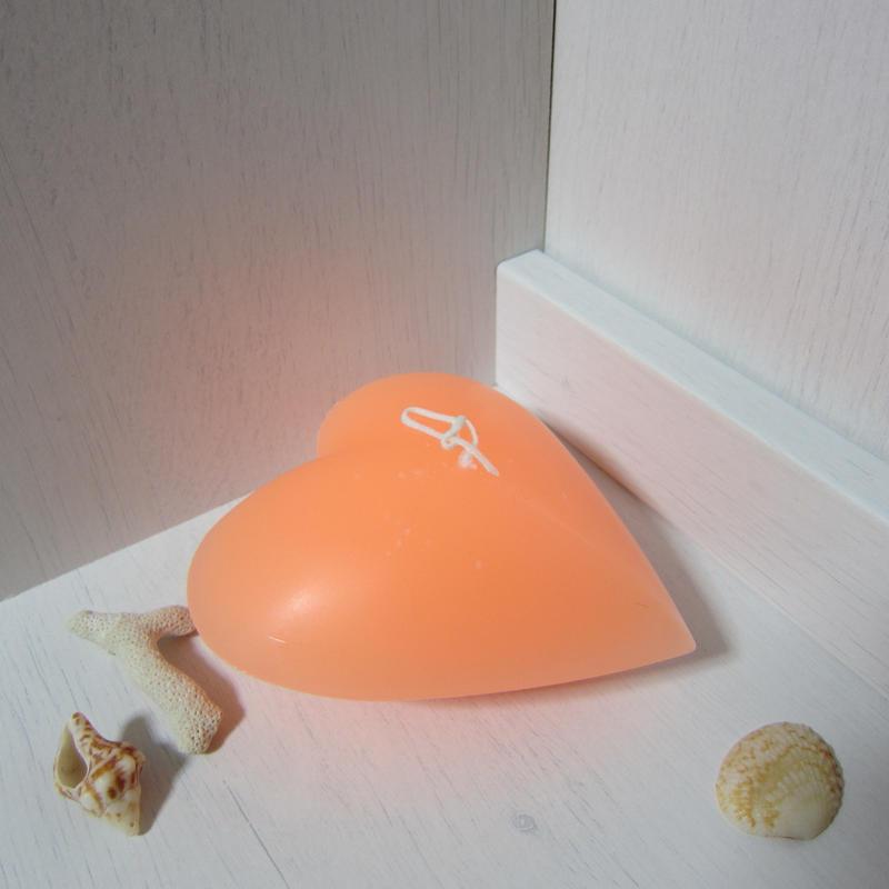 ハートキャンドル オレンジ