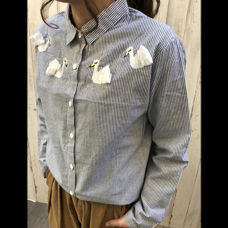 アヒルのストライプシャツ.541