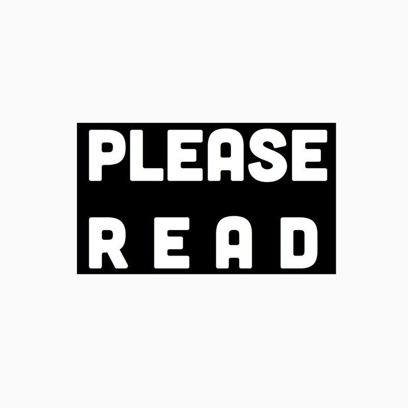 ご購入前に必ずお読み下さい