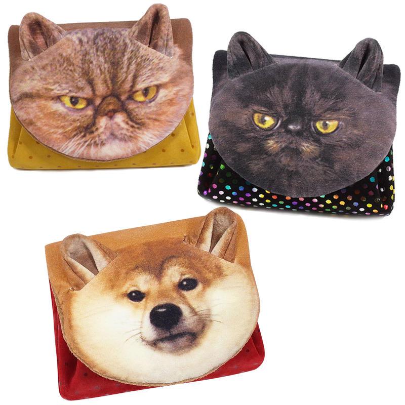 アニマルフェイスミニウォレット【Animal Face  Mini Wallet】