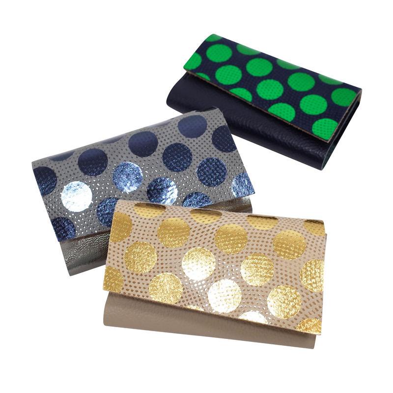 レザーカードケース ドット【Leather Card Case Dot】