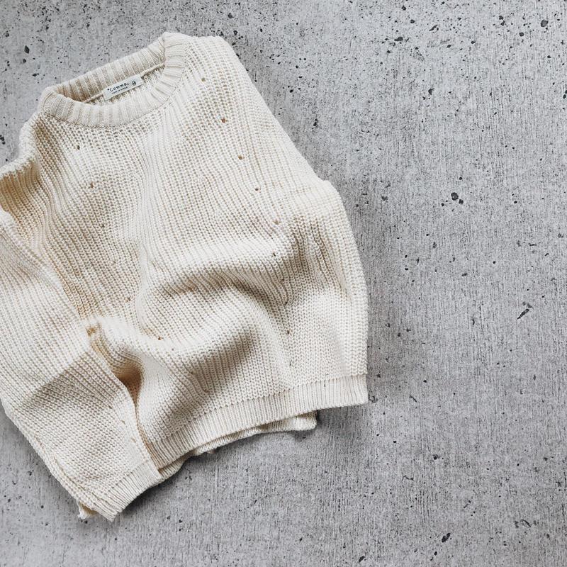 kids★drop shoulder knit tops