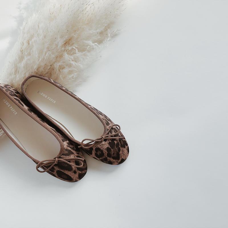 【ladies】leopard ballet shoes