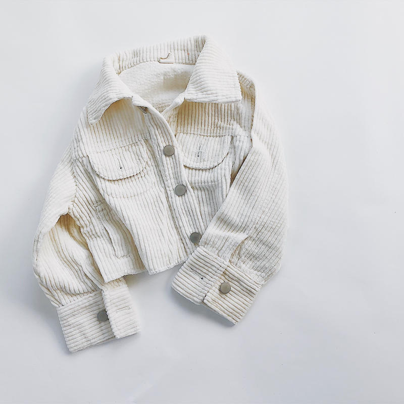 kids★corduroy drop shoulder jacket
