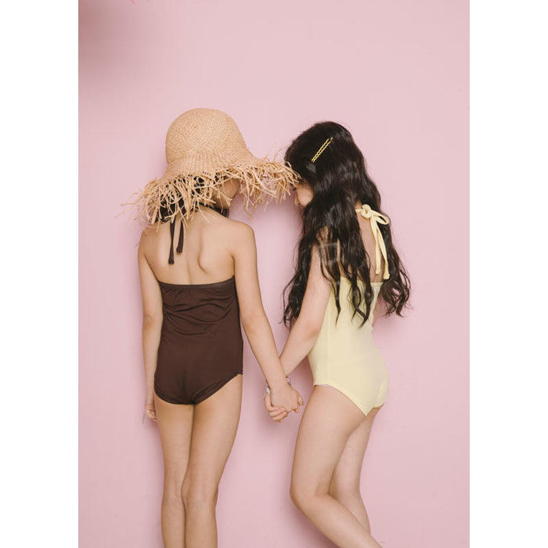 【予約商品】kids★simple one-piece swim  wear
