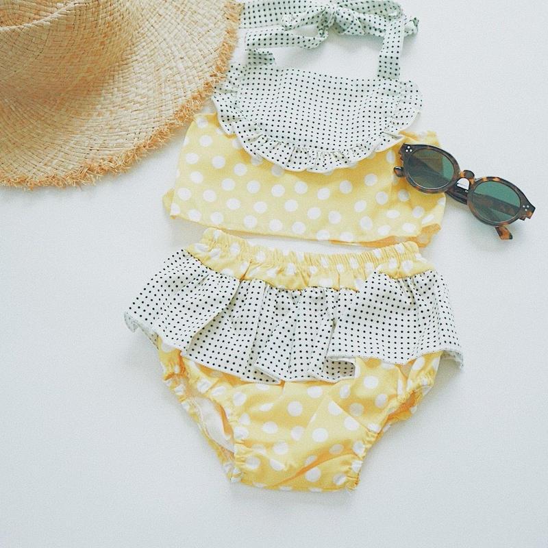 kids★dot frill separate swim  wear