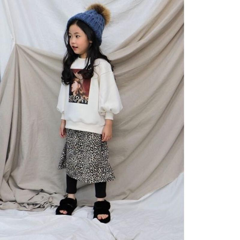 kids★leopard llong skirt leggings