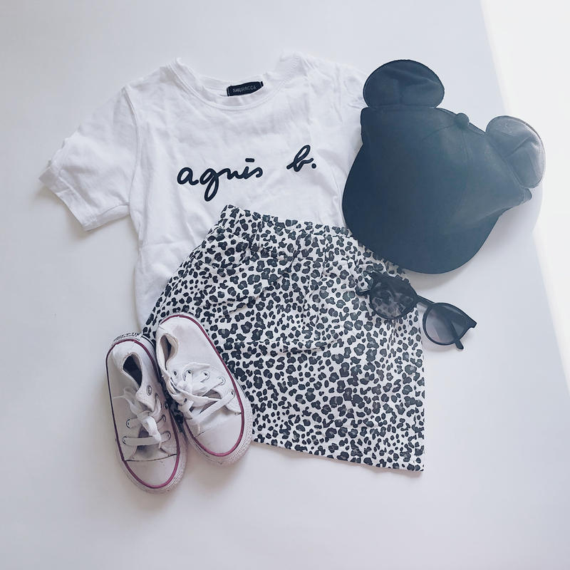 kids★leopard  mini skirt