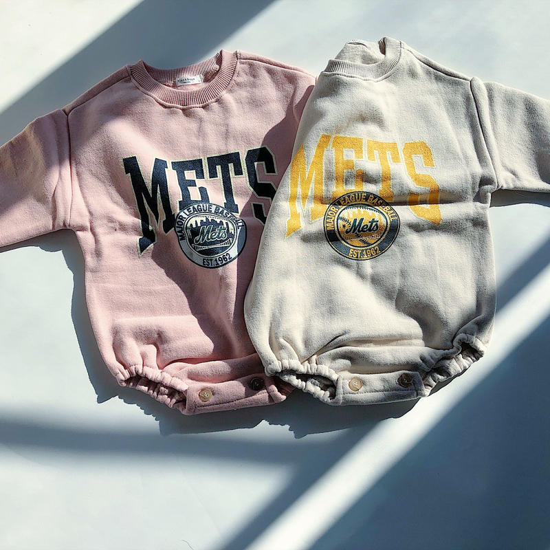 Baby★Mets casual sweat rompers