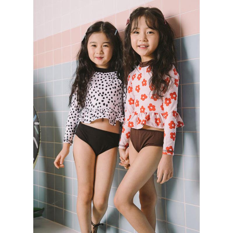 Jr.★peprum separate swim  wear