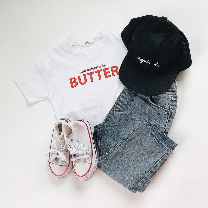 kids★red logo T shirt