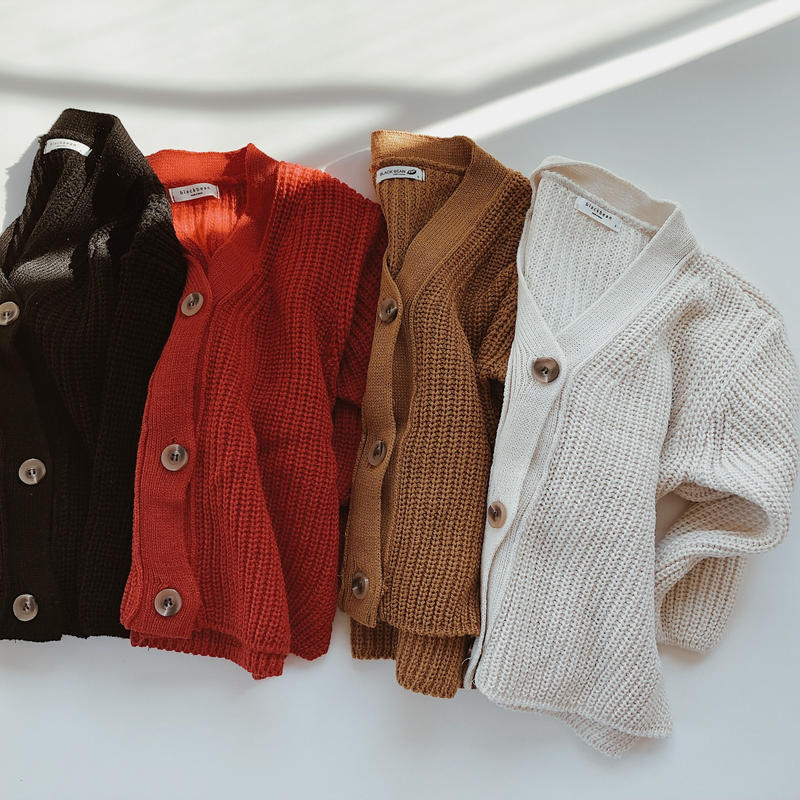 kids★rib knit cardigan