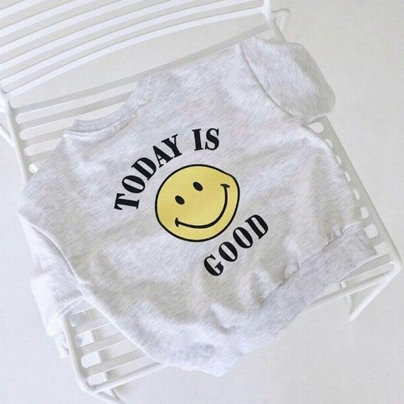 """kids★""""today is good"""" smile sweat tops"""