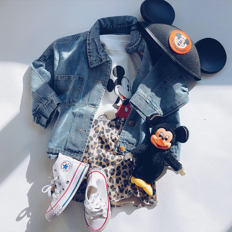 kids★drop shoulder  denim jacket