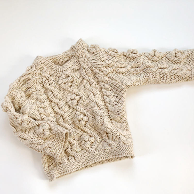 kids★cable knit tops