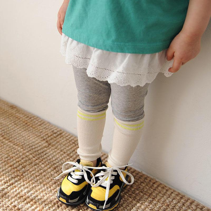 kids★cotton lace peprum tank top