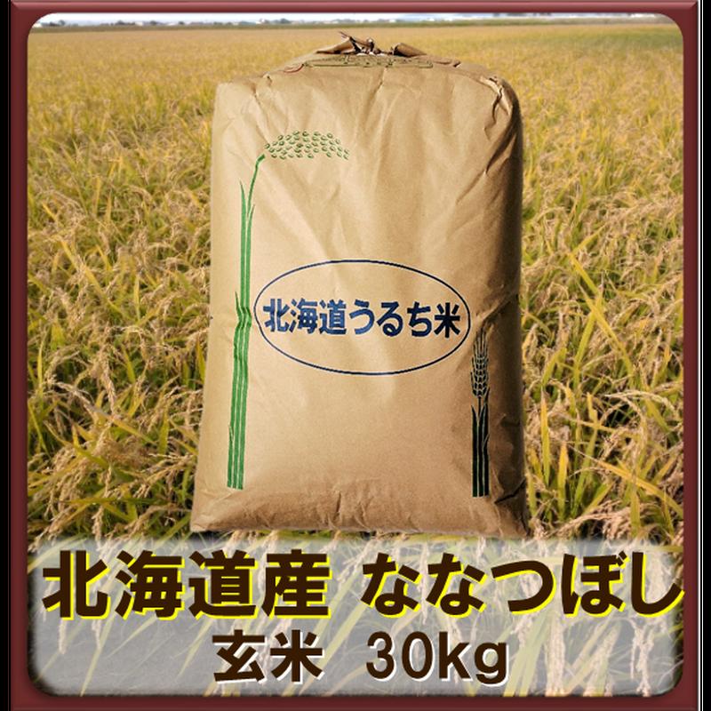 平成30年 北海道産 ななつぼし 一等米 玄米30kg