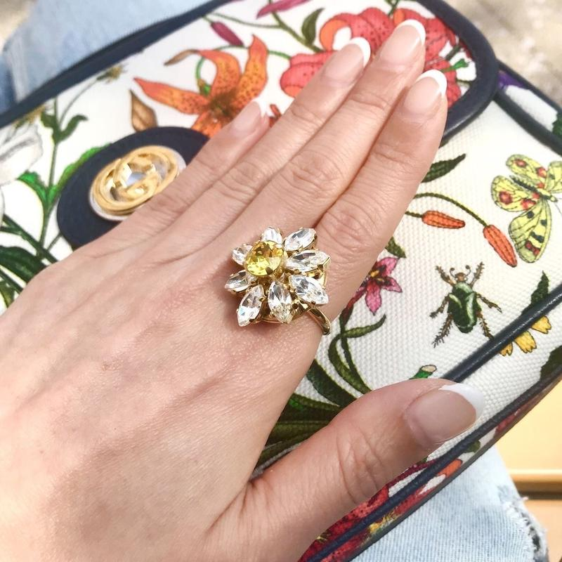 DAISY Bijoux Ring Clear