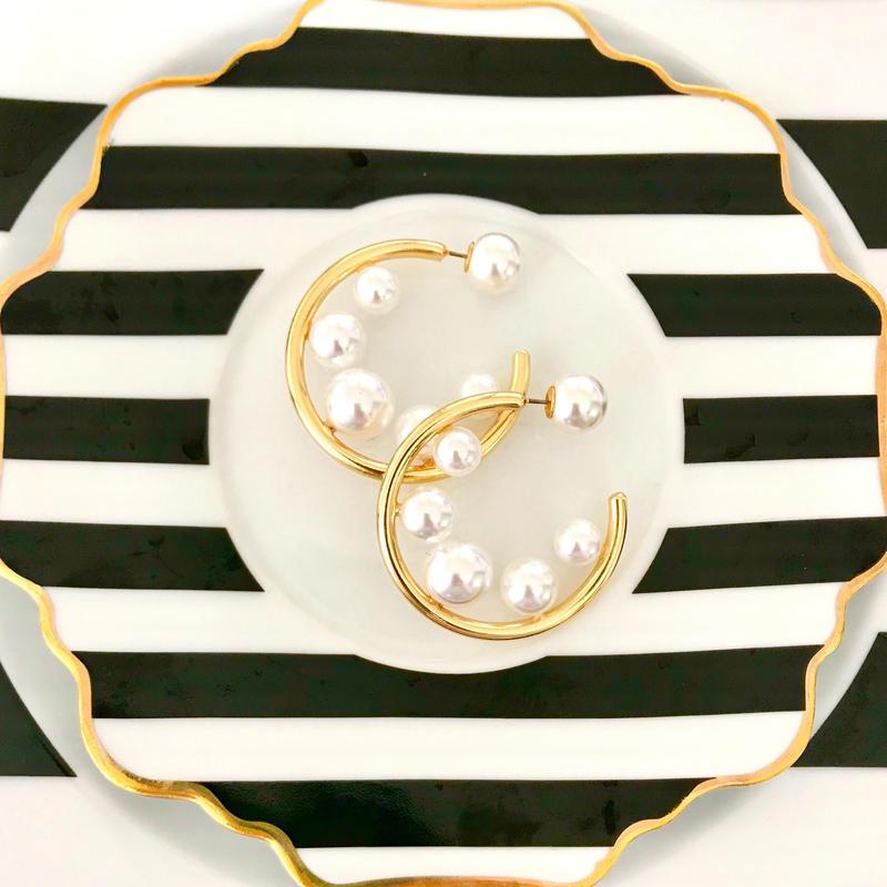 【Select Item】Twinkle Pearls HOOP ピアス