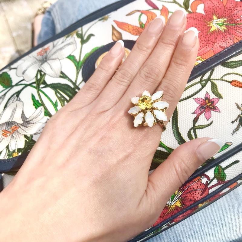DAISY Bijoux Ring White