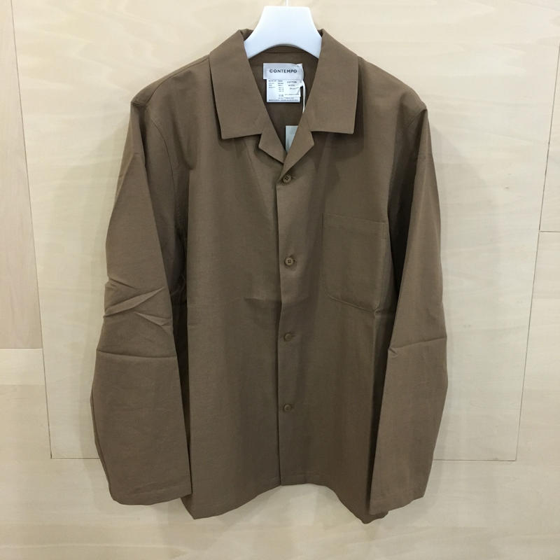 YAECA / 58953 パジャマシャツ  (BROWN)