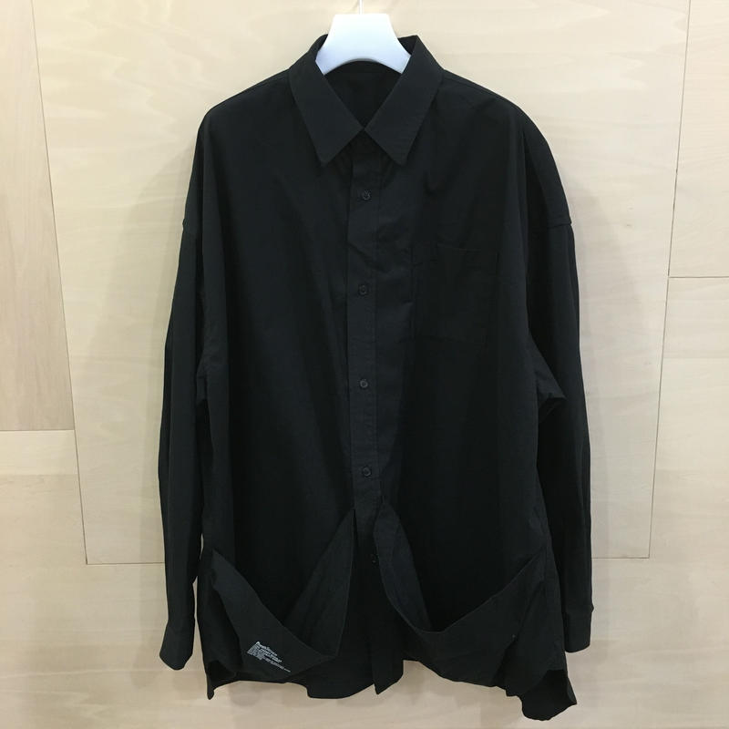 Fresh Service / FW 19 SH 04 / Tool Pocket Regular Collar Utility Shirt (BLACK)