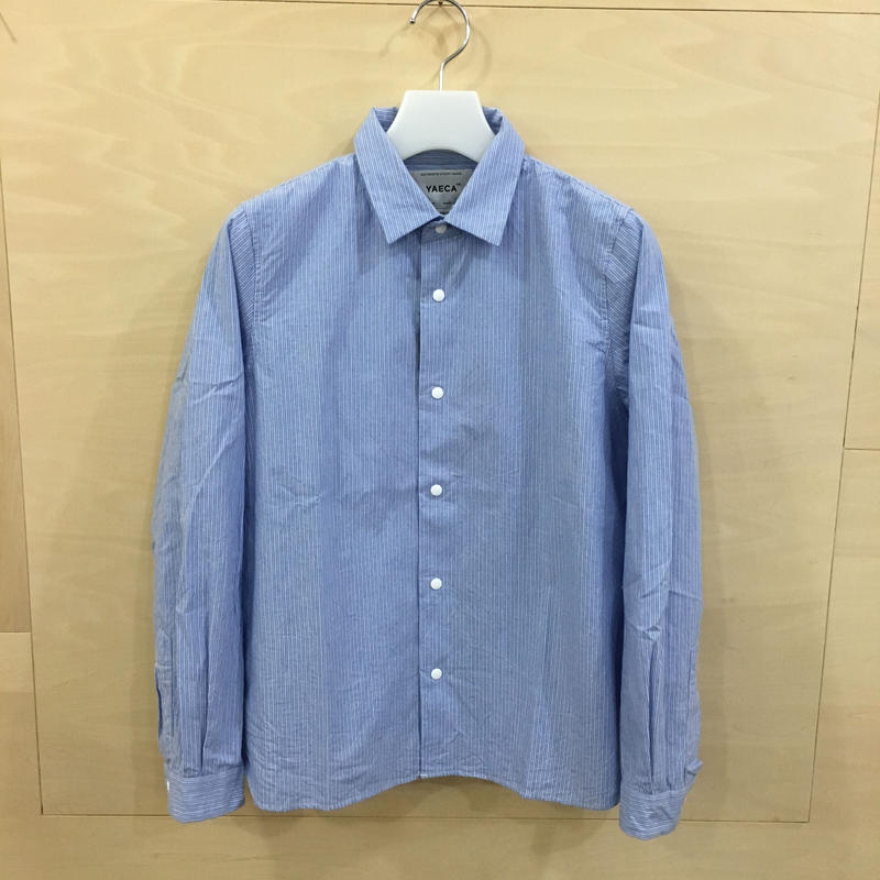 YAECA / 68151 コンフォートシャツ スタンダード (SAX STRIPE)