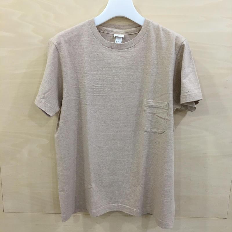 YAECA / 89012 / クルーネック T シャツ (CAMEL)