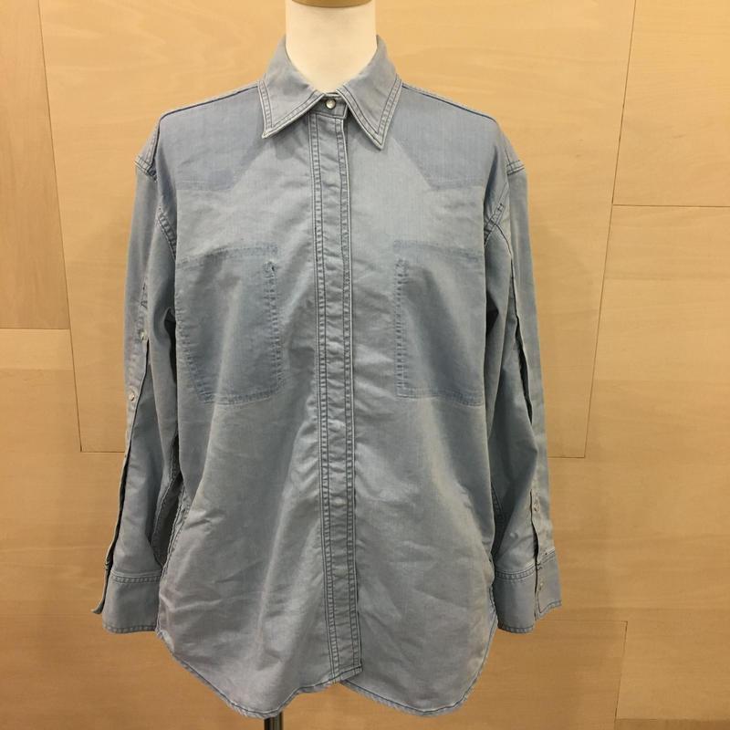 WHEIR / WH R071 シャツジャケット (BLEACH BLUE)