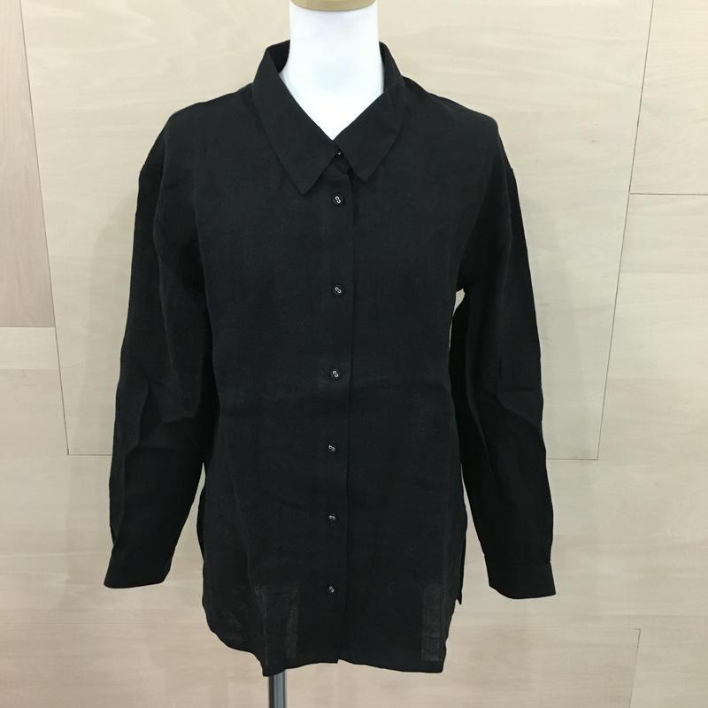 COSMIC WONDER / 08CW01100 / ベルギーリネンプルオーバーシャツ (BLACK)