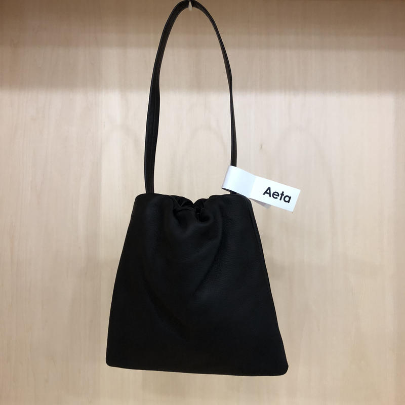 Aeta / DA01 / KINCHAKU BAG (S) (BLACK)