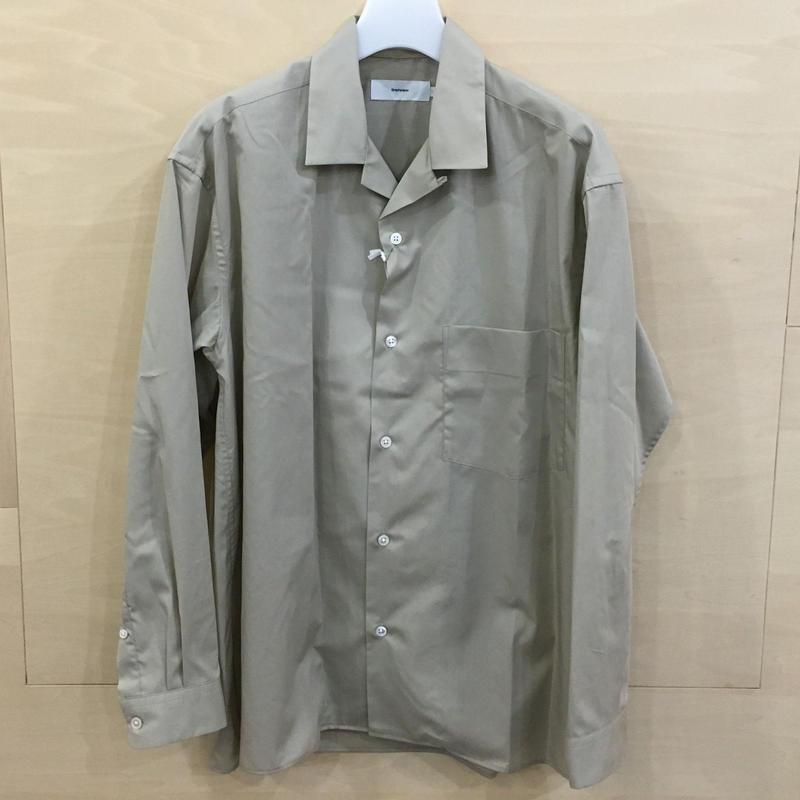 Graphpaper / GU192 50524C / Broad Open Collar Shirt (BEIGE) casa gucca 別注