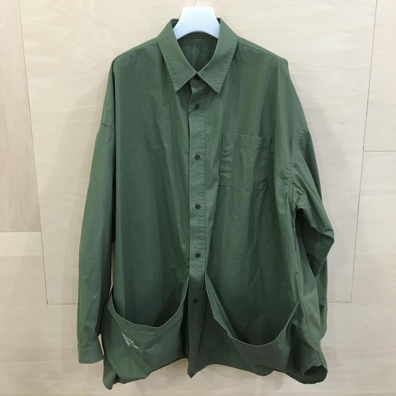 Fresh Service / FSW 19 SH 04 / Tool Pocket Regular Collar Utility Shirt (KHAKI)