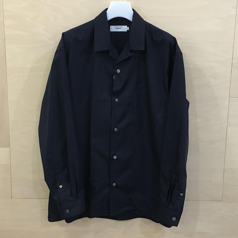 Graphpaper / GU192 50524C / Broad Open Collar Shirt (NAVY) casa gucca 別注