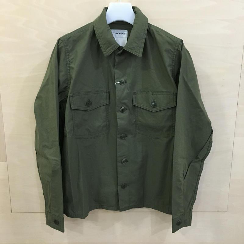 YAECA / 79102 / LIKE WEAR ベーカーシャツ (OLIVE) (BLOCKS)