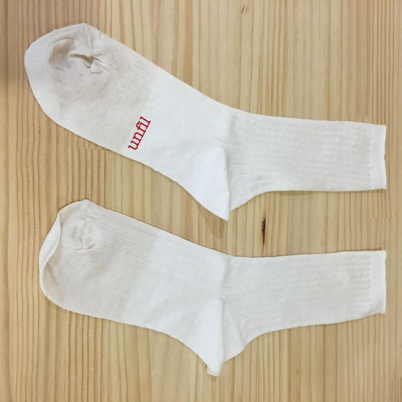 unfil / ONSP UW155 / Linen Thin Socks (OFF WHITE)