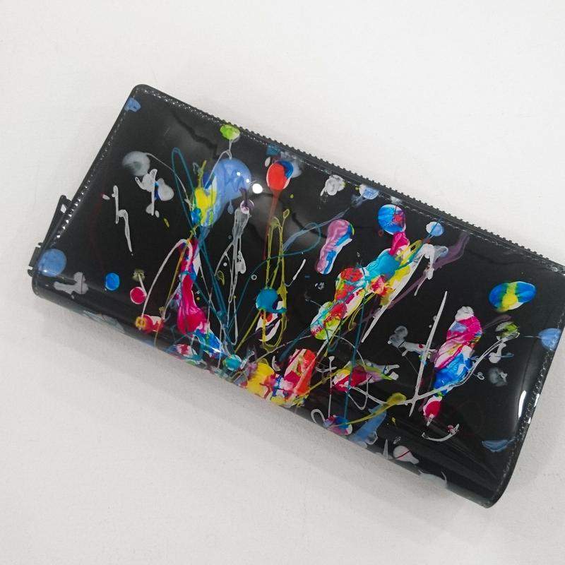 macromauro / paint black wallet jumbo