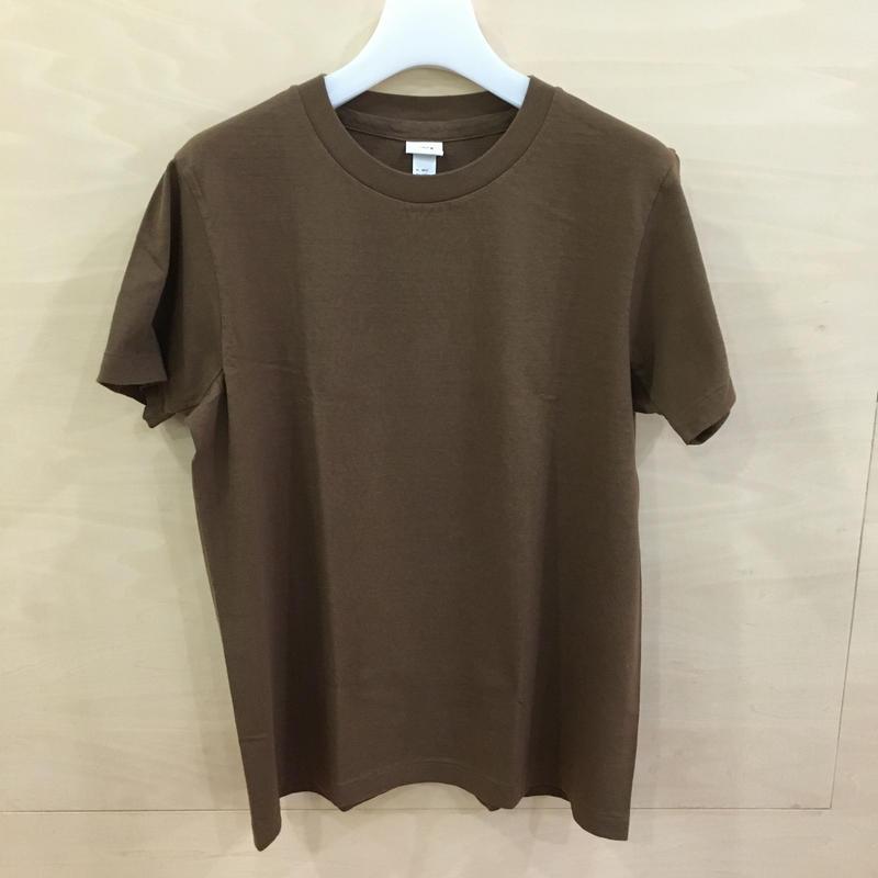 YAECA / 89013 / クルーネック T シャツ (BROWN)