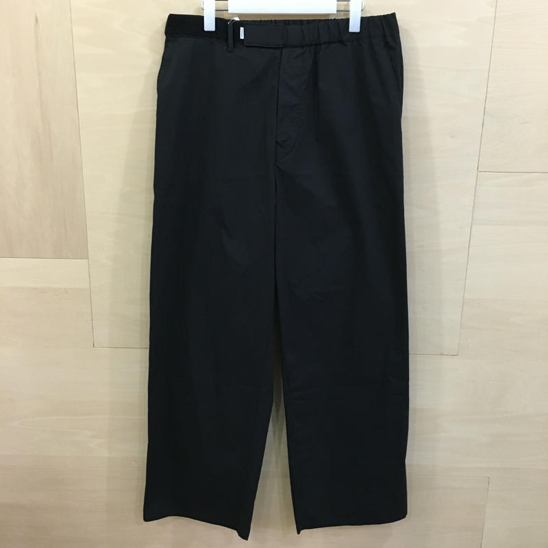 Graphpaper / GM192 40531 / Stretch Typewriter Wide Cook Pants (BLACK)
