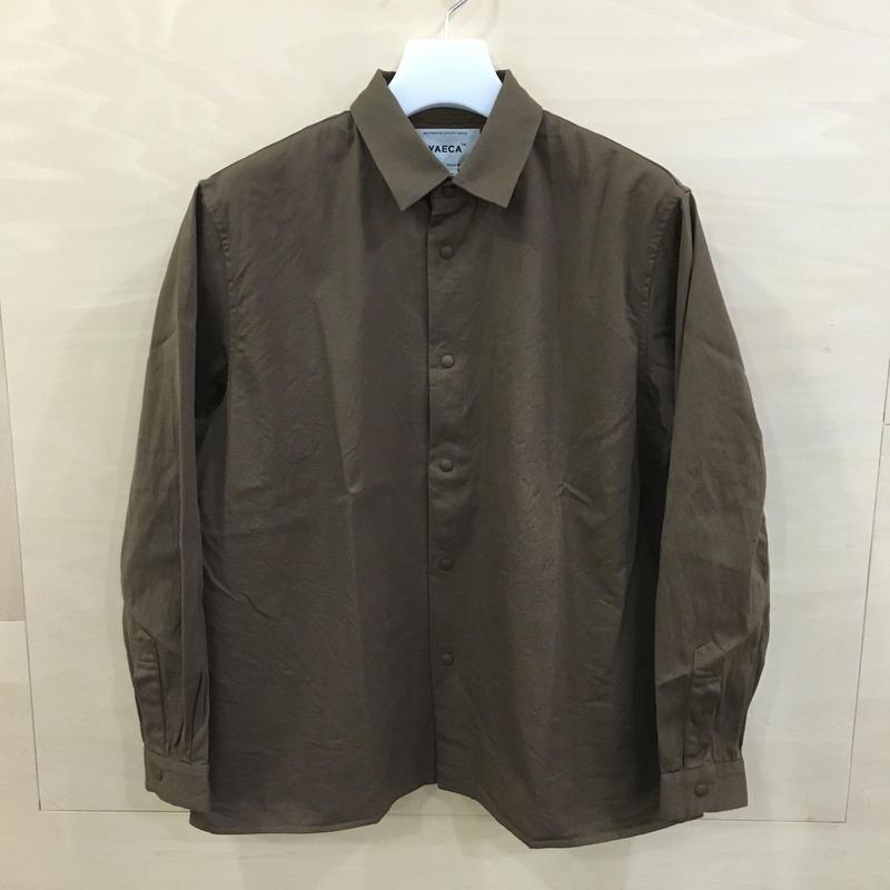 YAECA / 69105 / コンフォートシャツ リラックススクエア L (BROWN)