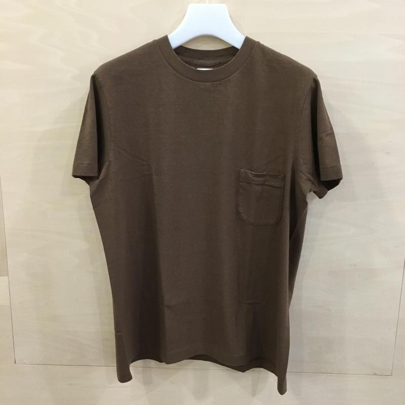 YAECA / 89012 / クルーネック T シャツ (BROWN)