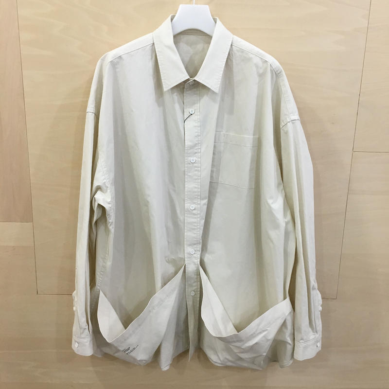 Fresh Service / FSW 19 SH 04 / Tool Pocket Regular Collar Utility Shirt (IVORY)
