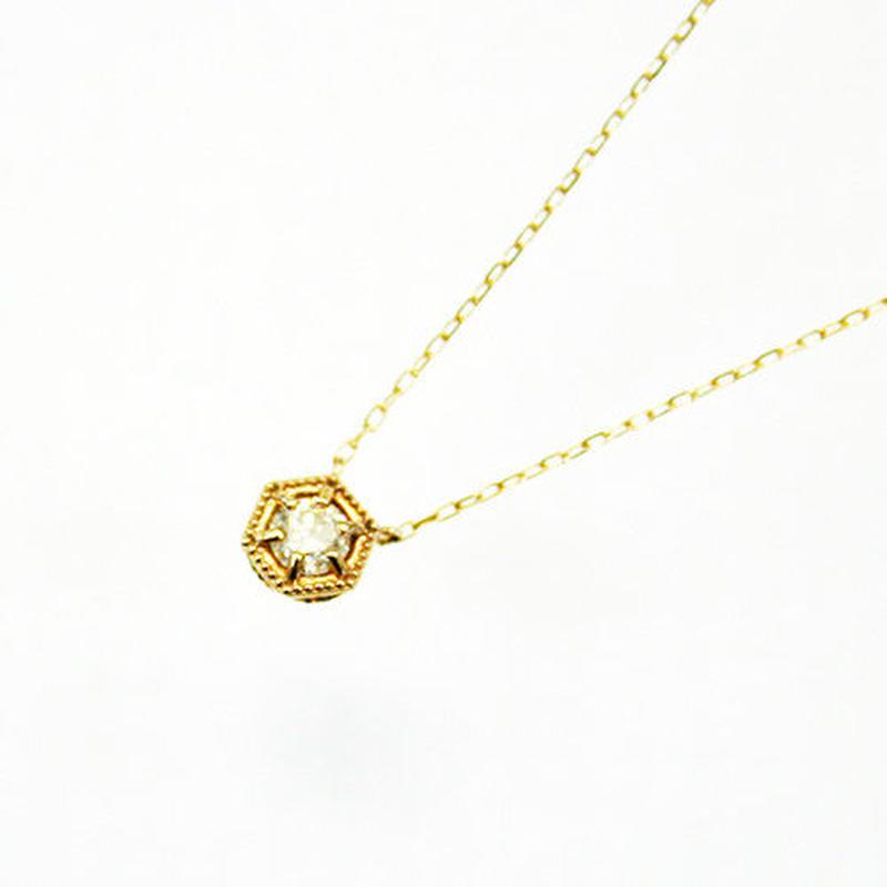 K10/【KIKKO DIAMOND / 亀甲ダイヤモンド】ダイヤネックレス(L)0.20ct (N10072Y-L)