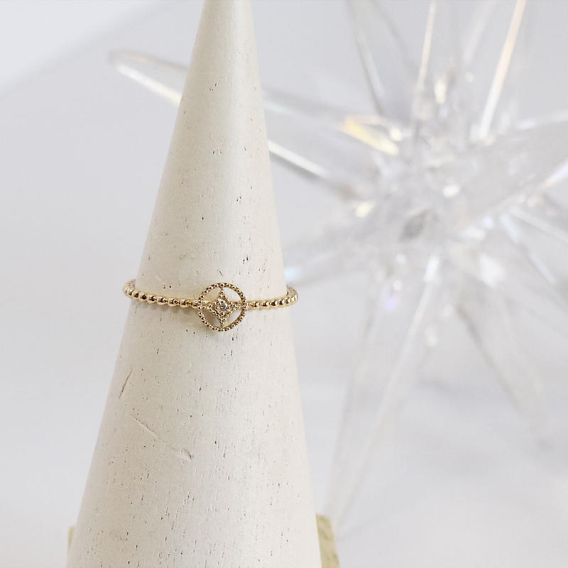 K10【SHIPPOMON / 七宝文】Diamond ringダイヤリング(YG/PG/WG 3色展開)R10034