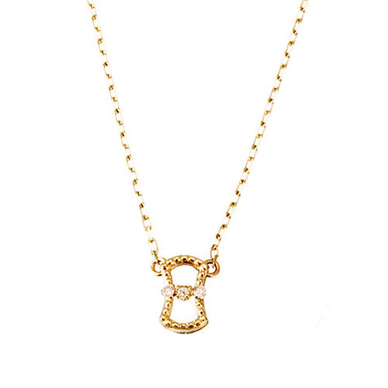 K10YG/【BUNDO / 分銅】ダイヤネックレス (N10061Y)
