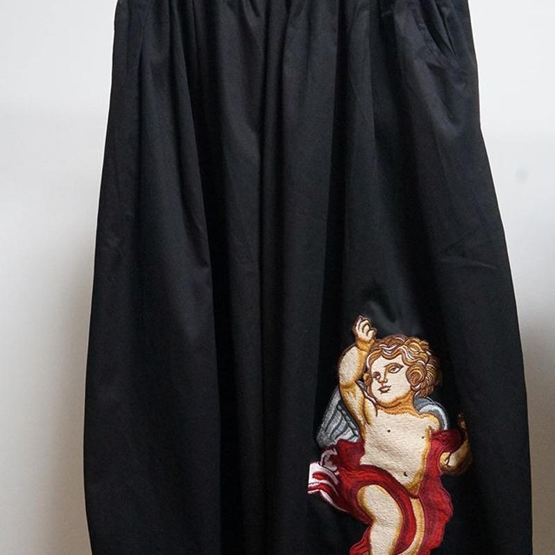 embroidery angel wide pants