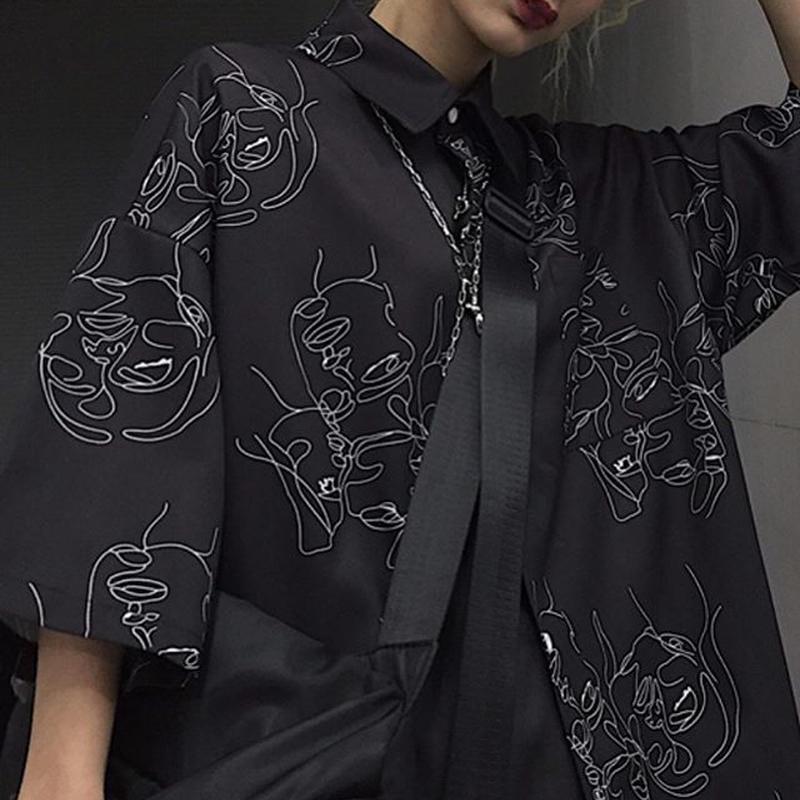 Abstract line art  shirt