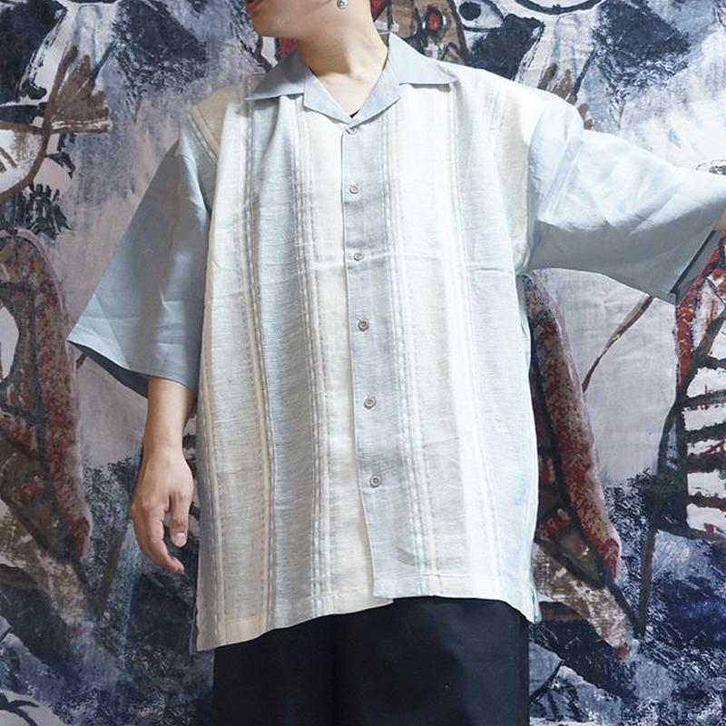 OVERSIZEオープンカラーシャツ(glay)